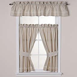 Wamsutta® Baratta Stitch Bath Window Curtain Panel and Valance