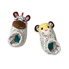 Infantino® Foot Rattles™ in Tiger/Zebra
