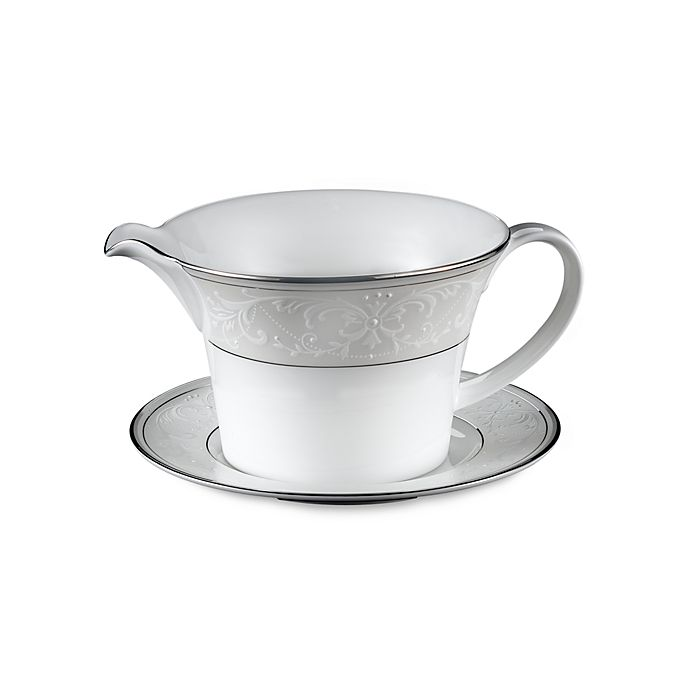 Alternate image 1 for Nikko Pearl Symphony Gravy Boat with Stand