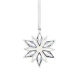 Swarovski® Crystal Silver Star Christmas Ornament