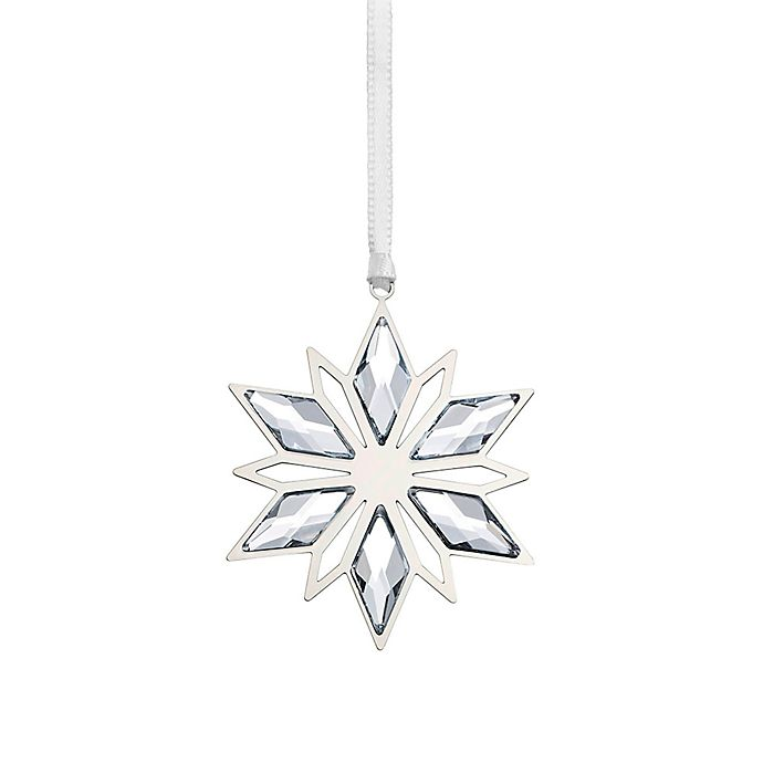 Alternate image 1 for Swarovski® Crystal Silver Star Christmas Ornament
