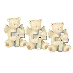 Grasslands Road® Bear Angel with Colored Glass Birthstone Cross