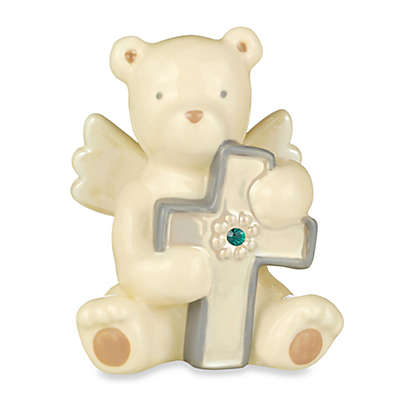 Grasslands Road® Bear Angel with May Emerald-Colored Glass Birthstone Cross
