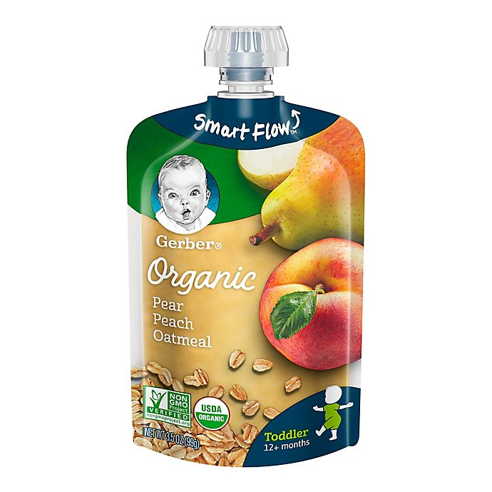 Alternate image 1 for Gerber® 2nd Foods® Organic Fruit & Grain 3.5 oz. Pear, Peach Oatmeal