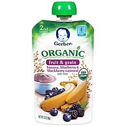 Gerber® 2nd Foods® Organic Fruit & Grain 3.5 oz. Banana, Blueberry, Blackberry Oatmeal