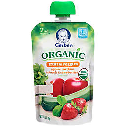 Gerber® 2nd Foods® Organic Fruit & Veggies 3.5 oz. Apples, Zucchini, Spinach & Strawberries