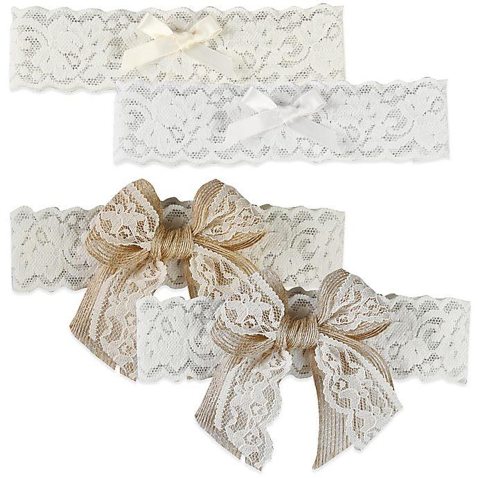 Alternate image 1 for Ivy Lane Design Country Romance Bridal Garter Set