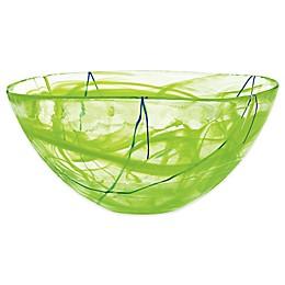 Kosta Boda Large Contrast Bowl in Lime