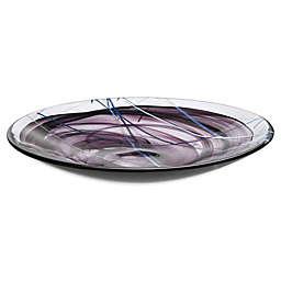 Kosta Boda Contrast Platter in Black