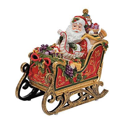 Fitz and Floyd® Regal Holiday Santa Sleigh Musical Figurine
