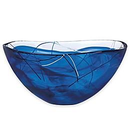 Kosta Boda Large Contrast Bowl in Blue