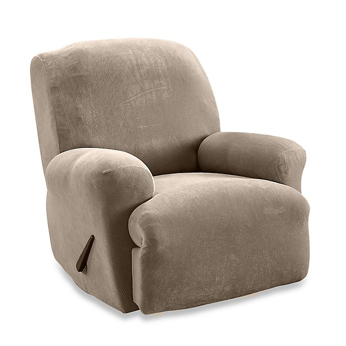 Sure Fit Stretch Sterling Recliner Slipcover In Taupe