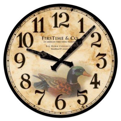 Firstime 174 Duck Decoy Wall Clock Bed Bath Amp Beyond