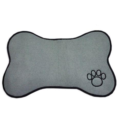 Bone Shape Pet Mat In Grey Bed Bath Amp Beyond