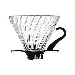 Hario V60Glass Coffee Dripper in Black