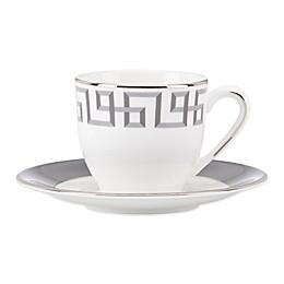 Brian Gluckstein by Lenox® Darius Demitasse Cup & Saucer Set in Silver