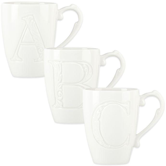 Alternate image 1 for Lenox® Initially Mine Carved Monogram Mug