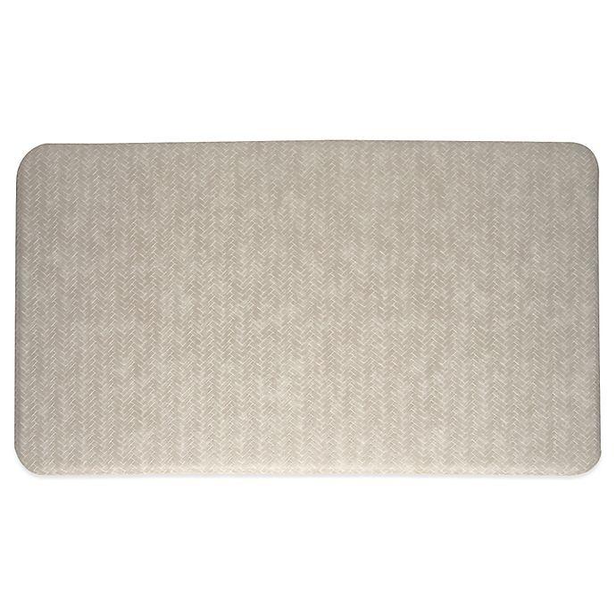 Alternate image 1 for Imprint® Cumulus9™ 20-Inch x 36-Inch Chevron Series Anti-Fatigue Comfort Mat in Light Tan