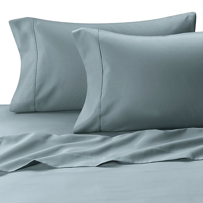 Alternate image 1 for MicroTouch Sateen King Pillowcase (Set of 2) in Sky