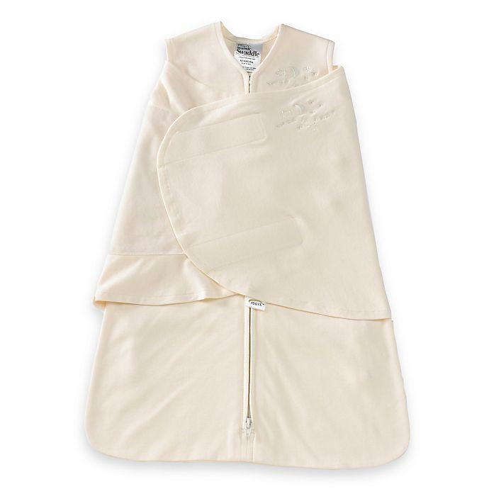Alternate image 1 for HALO® SleepSack® Newborn Organic Cotton Swaddle in Cream