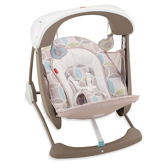 Alternate image 1 for Fisher-Price® Deluxe Take-Along™ Swing and Seat in Mocha Swirl