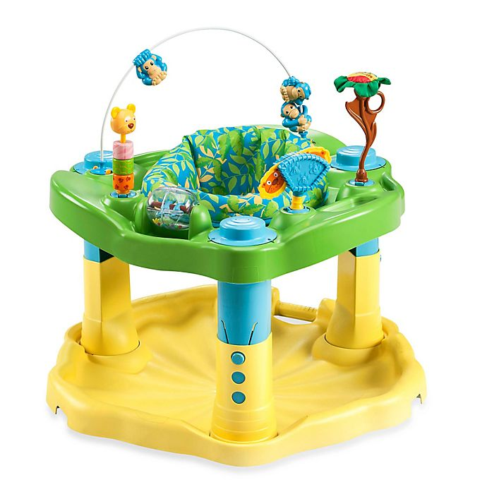 Alternate image 1 for ExerSaucer® by Evenflo® Bounce & Learn™ in Zoo Friends