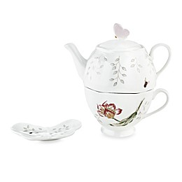 Lenox® Butterfly Meadow® Stackable Tea Set with Teabag Holder