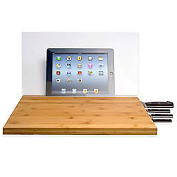 CTA Digital Bamboo Cutting Board with Screen Shield for iPad®
