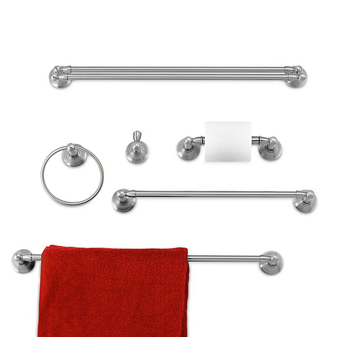 Alternate image 1 for Inspirations™ Sage™ Collection Brushed Nickel Bath Hardware
