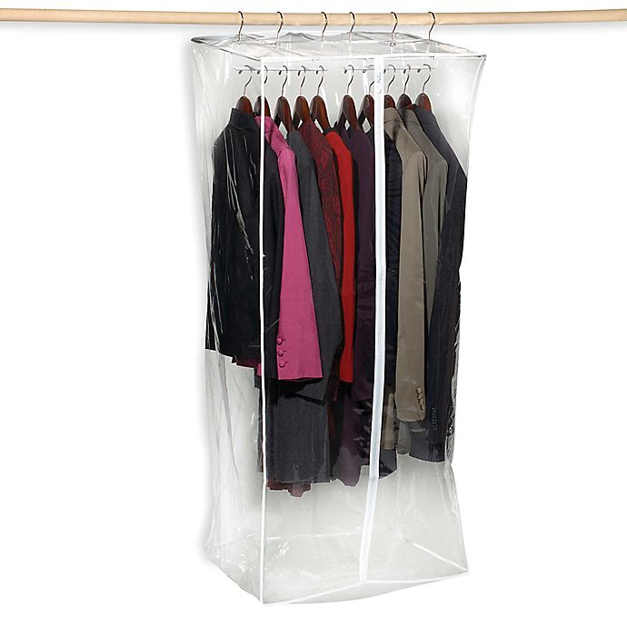Alternate image 1 for Crystal Clear Jumbo 24-Inch Vinyl Dress Closet Bag