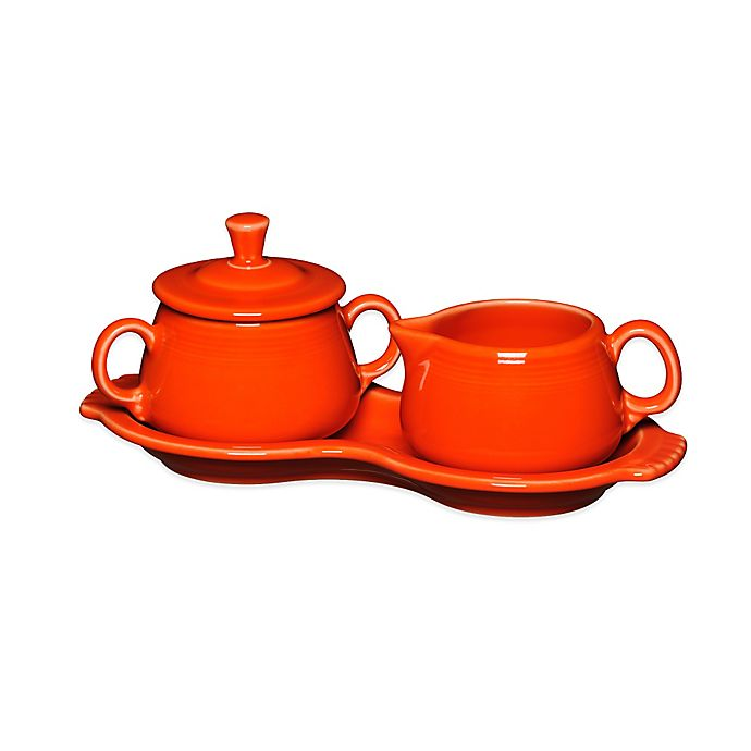 Alternate image 1 for Fiesta® Sugar and Creamer Set with Tray in Poppy