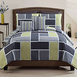 Morgan 7-Piece Reversible Quilt Set in Yellow