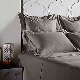 Frette At Home Creta Pillow Sham in Stone