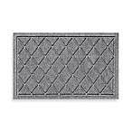 Weather Guard™ Argyle 18-Inch x 28-Inch Door Mat in Medium Grey