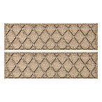 Weather Guard™ Argyle 8.5-Inch x 30-Inch Stair Tread in Camel (Set of 2)