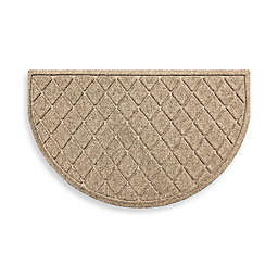 Weather Guard™ Argyle  24-Inch x 39-Inch Half Oval Door Mat