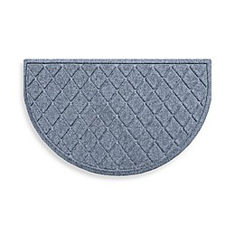 Weather Guard™ Argyle  24-Inch x 39-Inch Half Oval Door Mat