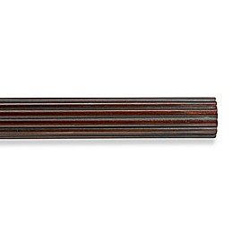 Cambria® Premier Wood Fluted Decorative Drapery Pole in Cherry