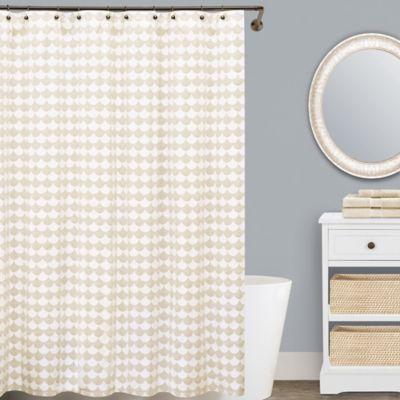 Lamont HomeTM Finley Cotton Shower Curtain