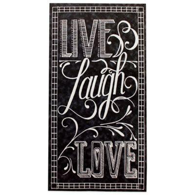 Live Laugh Love Chalkboard 16 Count Paper Guest Towels
