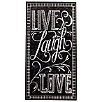 Live Laugh Love Chalkboard 16-Count Paper Guest Towels