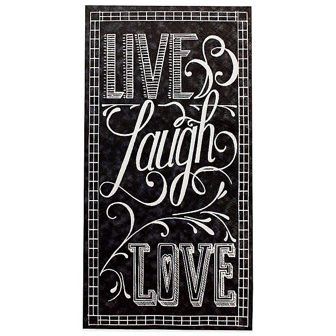 Alternate image 1 for Live Laugh Love Chalkboard 16-Count Paper Guest Towels