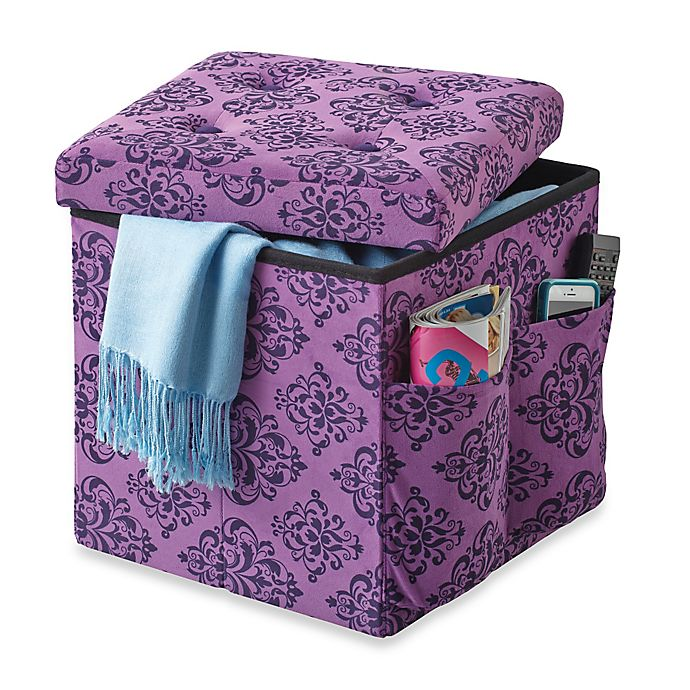 Fantastic Sit And Store Folding Storage Ottoman Bed Bath Beyond Machost Co Dining Chair Design Ideas Machostcouk