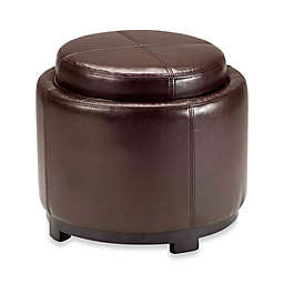 Marvelous Round Leather Ottoman Bed Bath Beyond Ncnpc Chair Design For Home Ncnpcorg