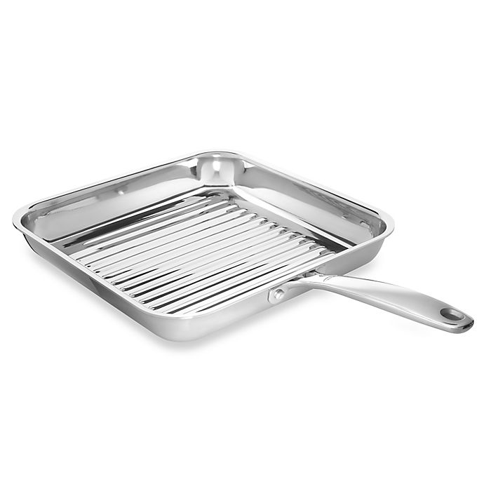 Alternate image 1 for OXO Good Grips® Tri-Ply Pro 11-Inch Stainless Steel Square Grill Pan