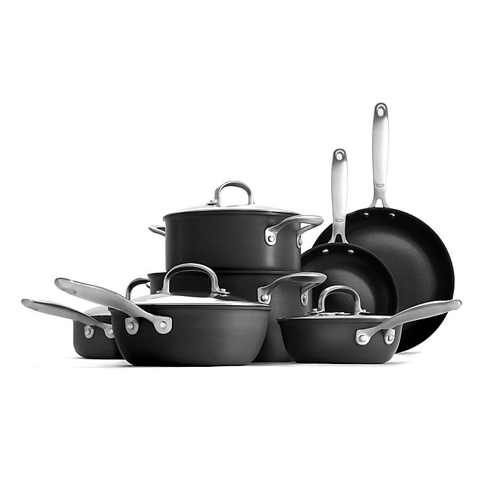 Alternate image 1 for OXO Good Grips® Hard Anodized Pro Nonstick 12-Piece Cookware Set