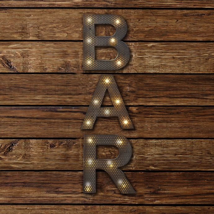 BAR LED Marquee Sign | Bed Bath and Beyond Canada