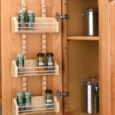 Rev A Shelf 174 Adjustable Door Mount Spice Rack Bed Bath