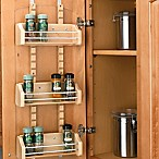 Rev-A-Shelf - 4ASR-15 - Small Cabinet Door Mount Wood Adjustable 3-Shelf Spice Rack