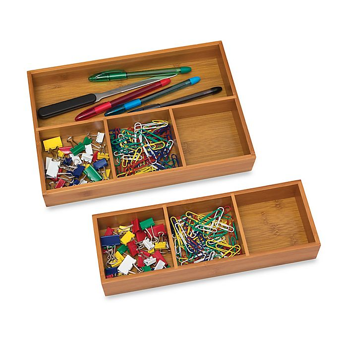 Alternate image 1 for Lipper International Compartment Bamboo Tray